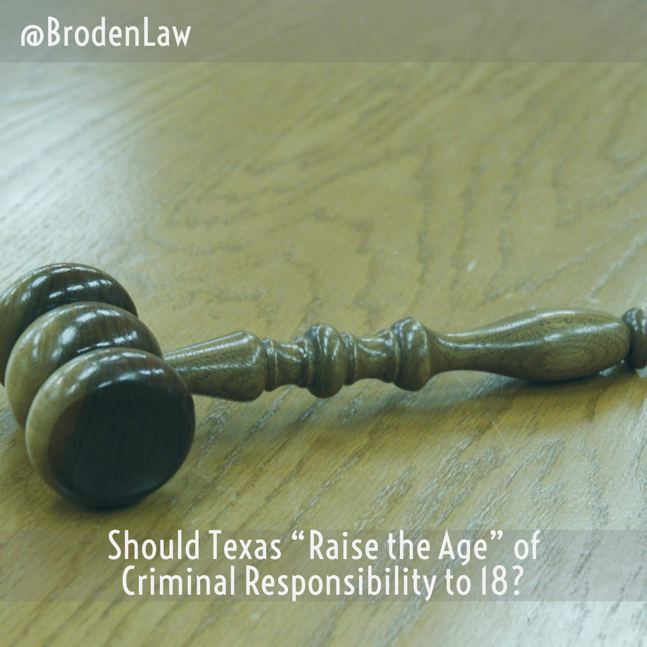 the age of criminal responsibility The age of criminal responsibility can be contrasted with other age restrictions – children cannot buy a pet until they are 12, consent to sex until they are 16 .