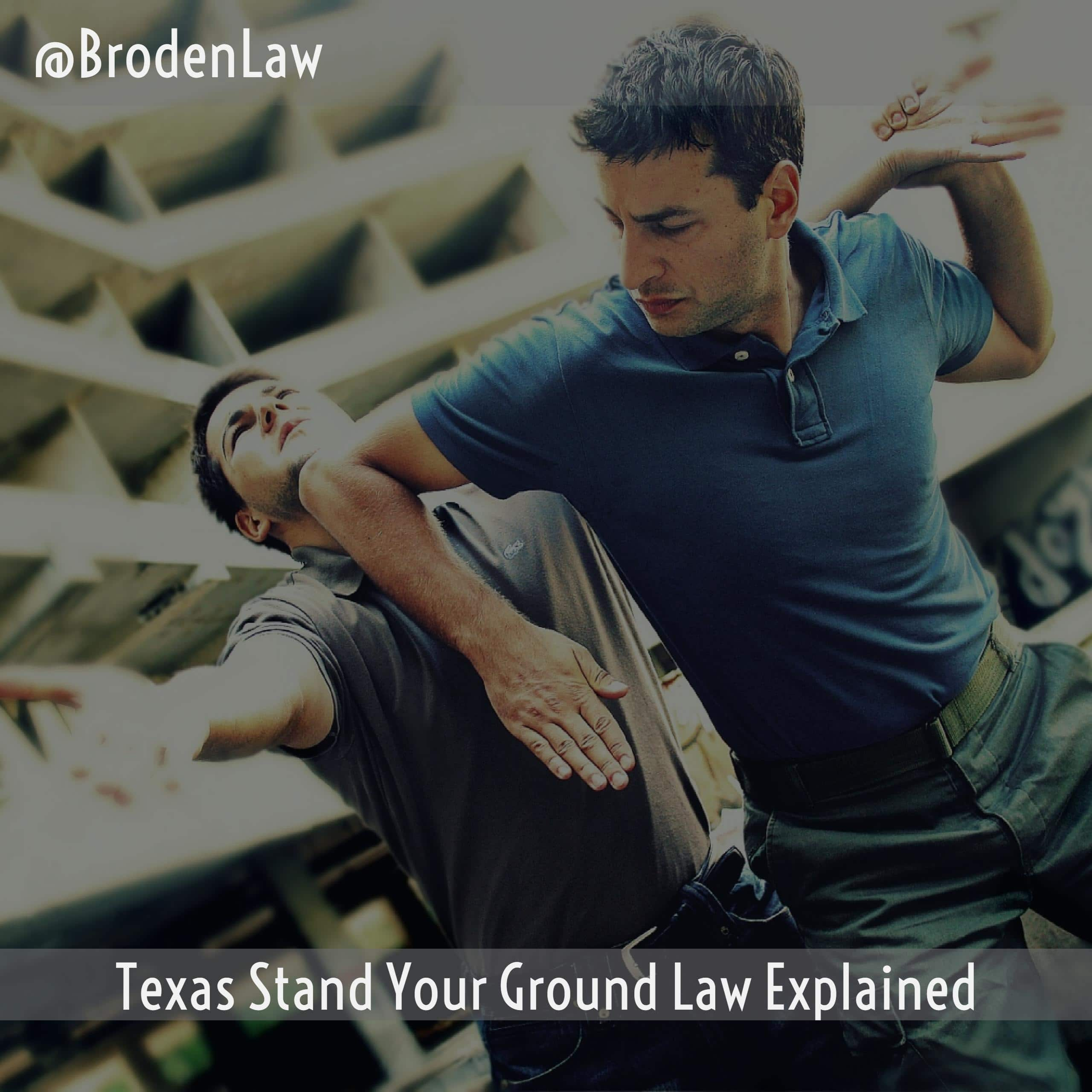 Texas Stand Your Ground Law Dallas Criminal Defense Lawyer