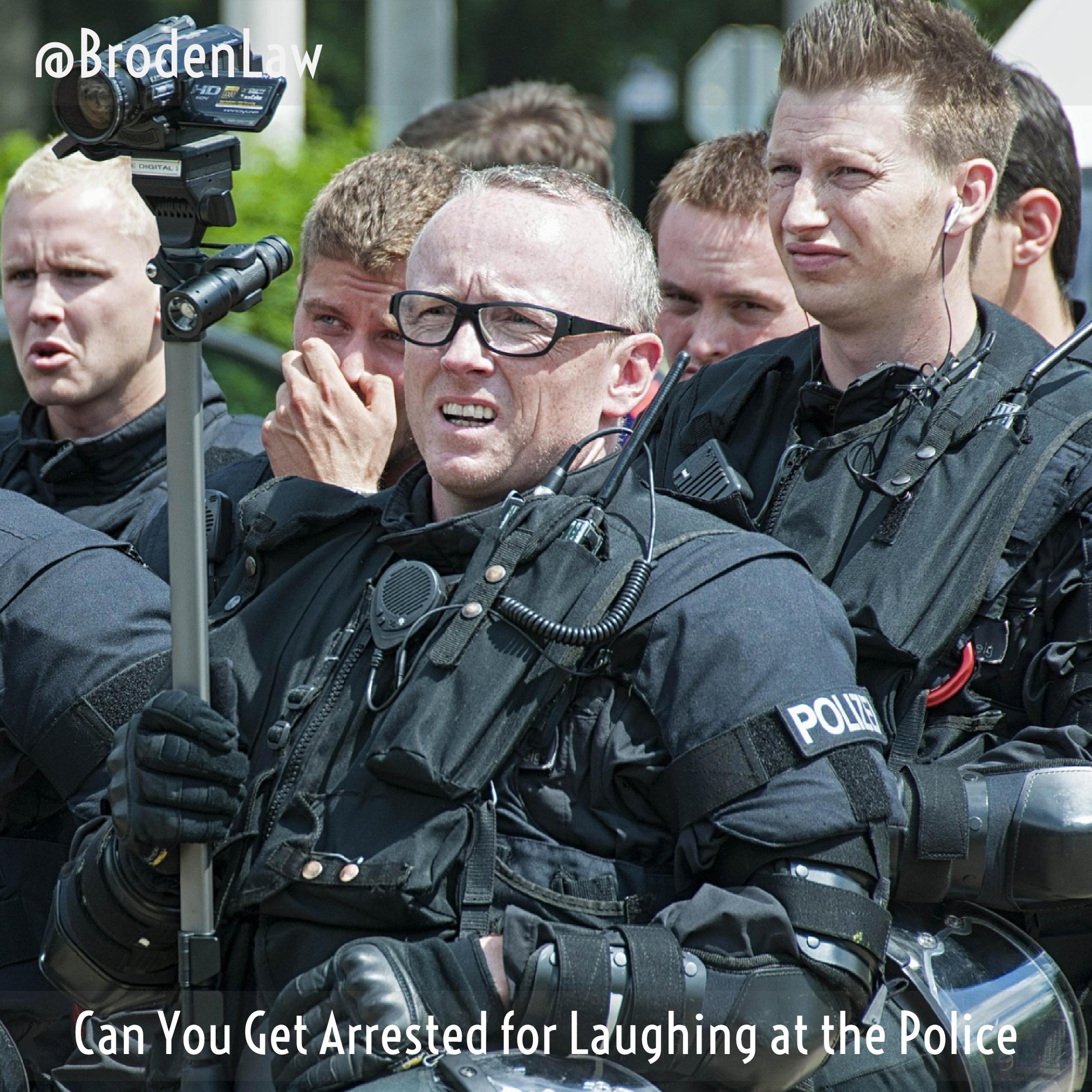 Laughing at the Police Dallas Criminal Defense Lawyer