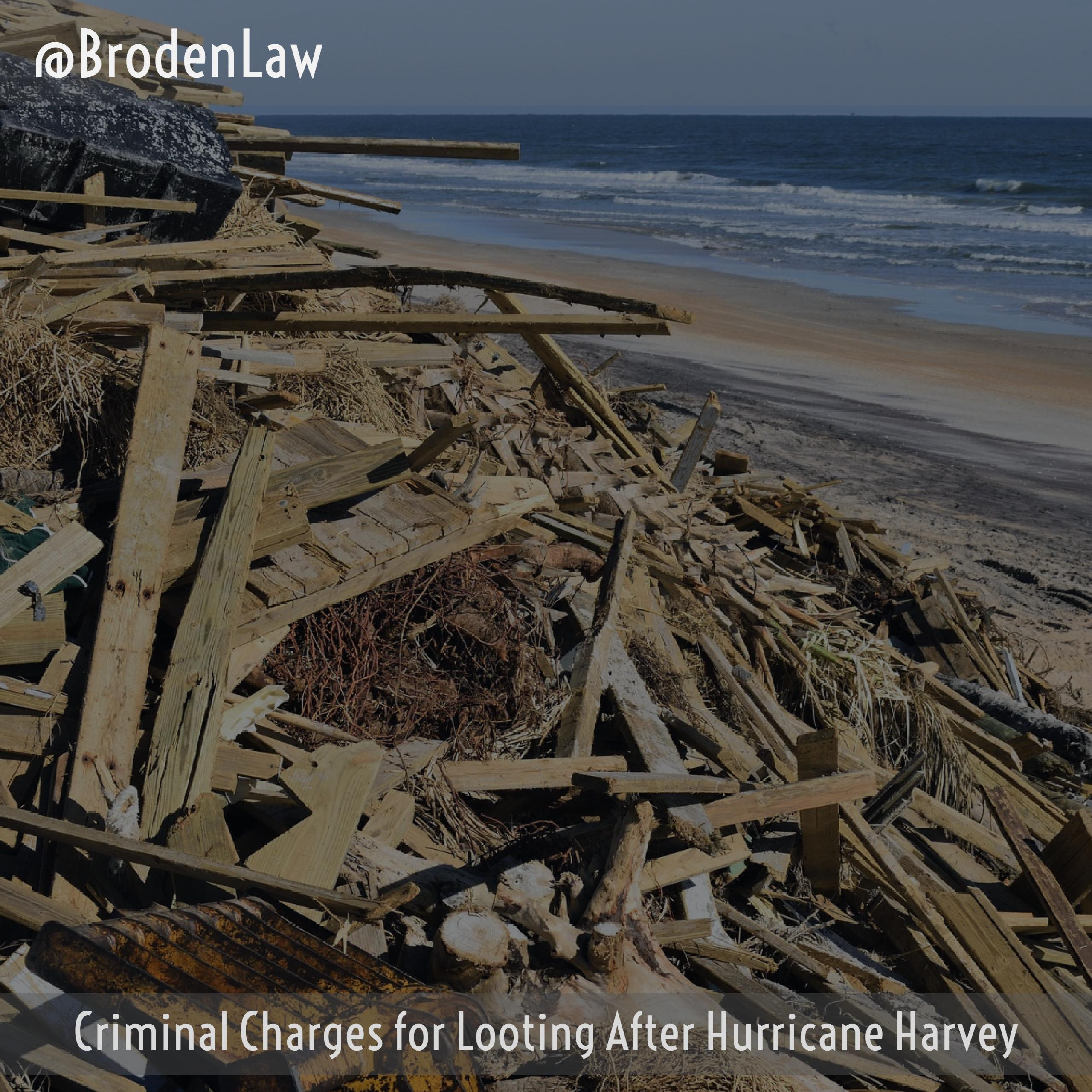 Criminal Charges for Looting Dallas Criminal Defense Lawyer